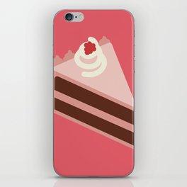 Vegan Raspberry Chocolate Cheese Cake iPhone Skin