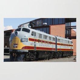 Engine 664 Lakawanna Railroad Rug