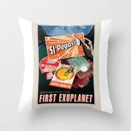 51 Pegasi b - NASA Space Travel Poster Throw Pillow