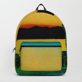 Hiroshige, Sunset Contemplative Landscape Backpack