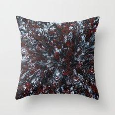 Red, black, white Throw Pillow