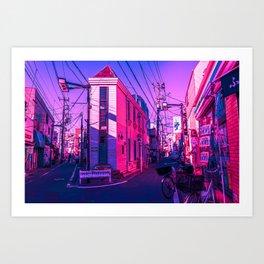 Tokyo During Pink Hour  Art Print