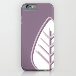 Pink leaves on purple background iPhone Case