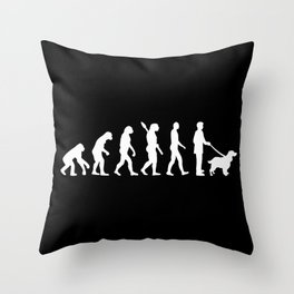 English Springer Spaniel evolution Throw Pillow