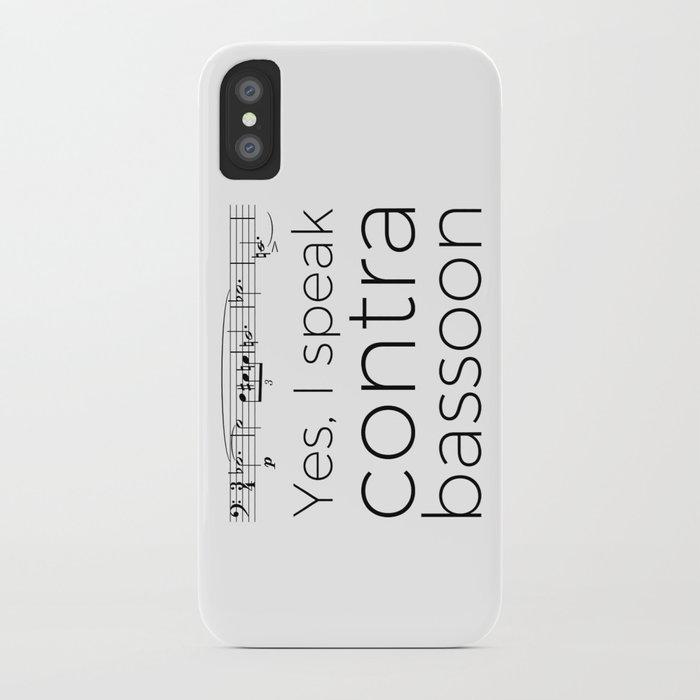 Do you speak contrabassoon? iPhone Case
