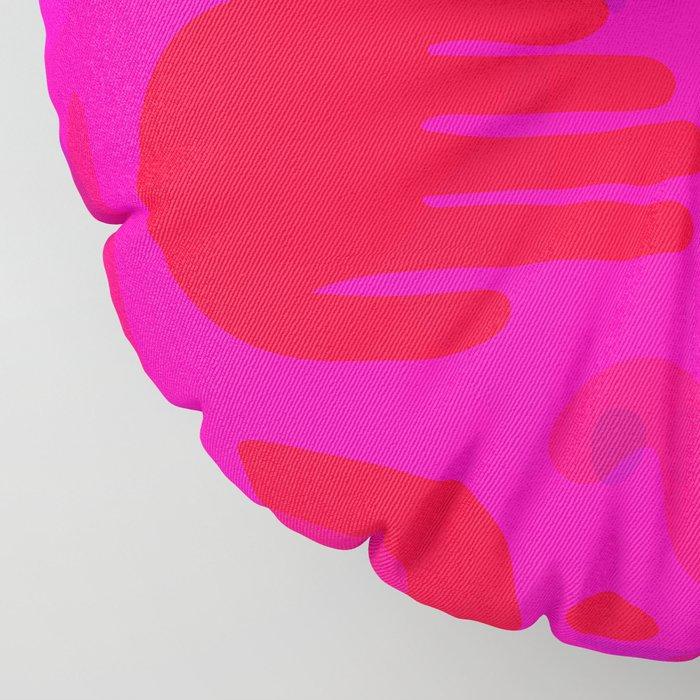 Neon Cutout Print Floor Pillow