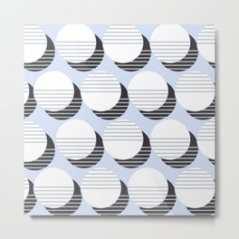 Simple Circle Pattern Metal Print