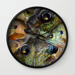 Bluegill Kaleidoscope 1 Wall Clock