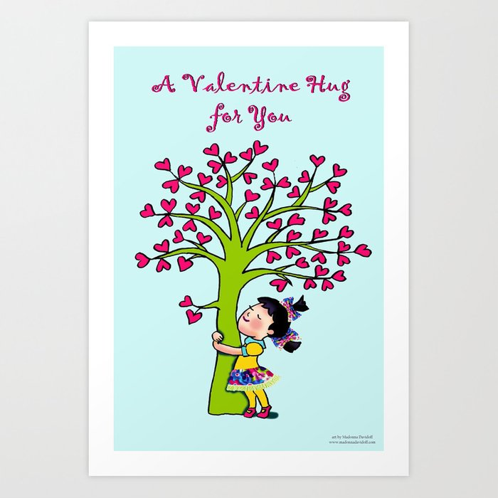 Valentine Hug for you Art Print