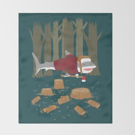 LumberJack Shark Throw Blanket