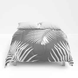 Dark Gray Tropical Pattern Comforters