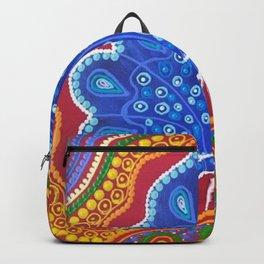 Aboriginal Art - Bindi Bindi (Butterfly) Dreaming Backpack
