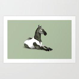 Cavallo offeso Art Print