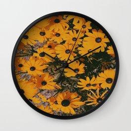 Brown Eyed Susan Wall Clock