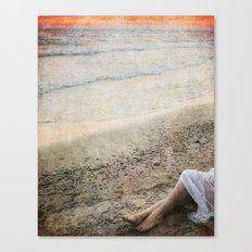 Sunset in a White Dress Canvas Print