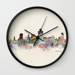 salt lake city skyline Wall Clock