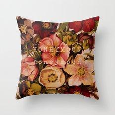 Honeymoon Floral Throw Pillow