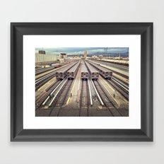 LA Rails Framed Art Print