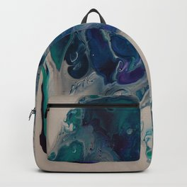 Wild Stallion- Abstract Acrylic Art By Fluid Nature Backpack