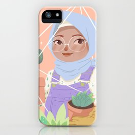 Girl and her Cactus iPhone Case