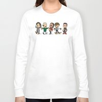 1d Long Sleeve T-shirts featuring Schulz 1D Coffee Run by Ashley R. Guillory