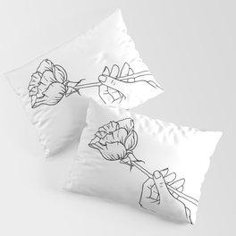 Rose in Hand Pillow Sham