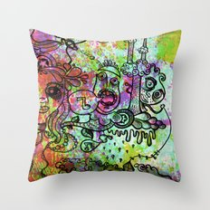 The drugs began to take hold Throw Pillow