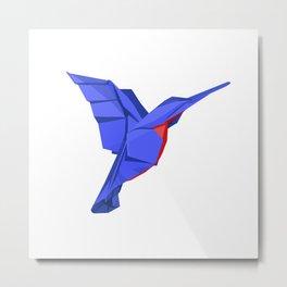 Origami Colibri Metal Print