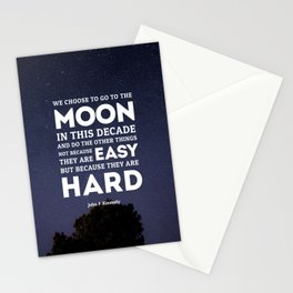 We Go To The Moon - John F. Kennedy Stationery Cards