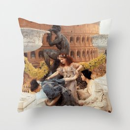 The Colosseum 1896 by Sir Lawrence Alma Tadema | Reproduction Throw Pillow