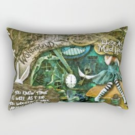 Mad Hatter Rectangular Pillow
