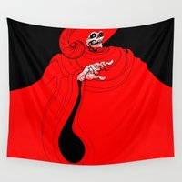 jojo Wall Tapestries featuring The Red Death by JoJo Seames