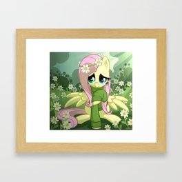 Fluttershy Sweater Framed Art Print