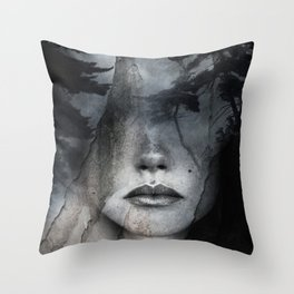 Complete absence of sound Throw Pillow