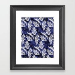 Indigo Palms Framed Art Print