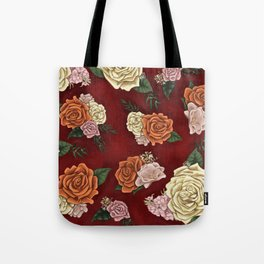 Red luxury flowers Tote Bag