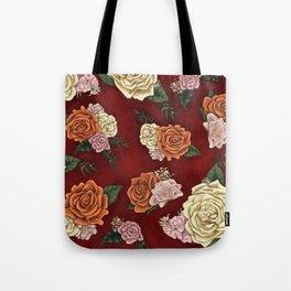 Red luxury flowers Tote Bag