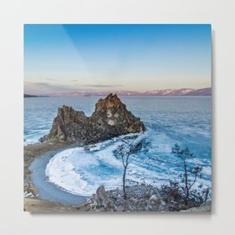 Shaman Rock on Olkhon Island, Baikal Metal Print