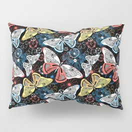 Beautiful graphic illustration of colorful butterflies Pillow Sham