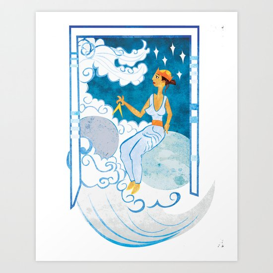 Muse of Astronomy Art Print