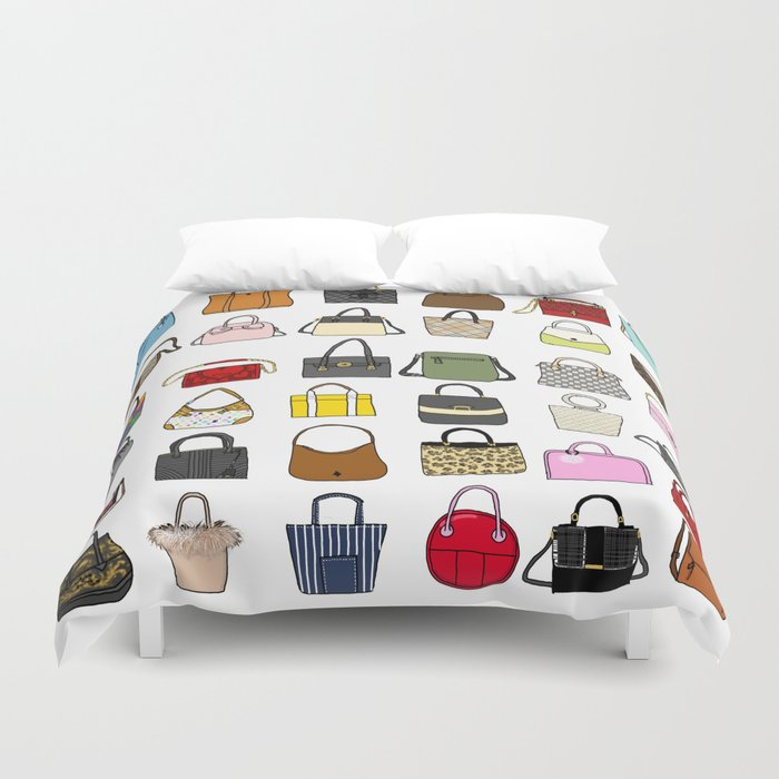 Fashion Lover -BAGS Duvet Cover