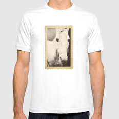 Rodeo Queen MEDIUM White Mens Fitted Tee