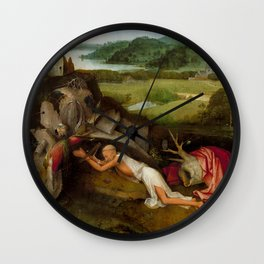 "Hieronymus Bosch ""Saint Jerome at prayer"" Wall Clock"