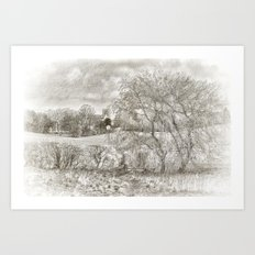 A Lovely View BW Art Print