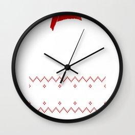 Bull Dog Pawsmas Meowy Christmas. Wall Clock