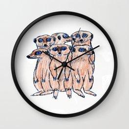 The Meerkats Wall Clock