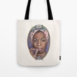 Watercolor Painting of Nina Simone Tote Bag