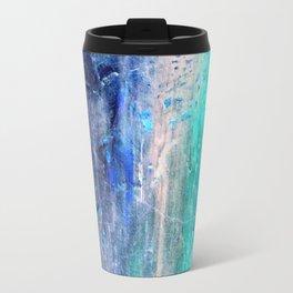 Winter Abstract Acrylic Textured Painting Travel Mug