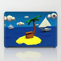 low poly iPad Cases featuring Low-Poly Treasure Island by Jorge Antunes
