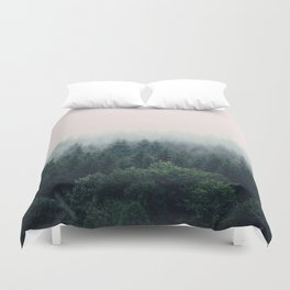 Between every two pines is a doorway to a new world Duvet Cover